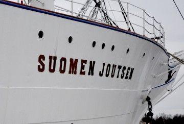 "Amura de estribor de la fragata finlandesa ""Suomen Joutsen"""