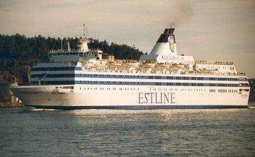 """El ferry """"Estonia"""", en una imagen de 1980"""