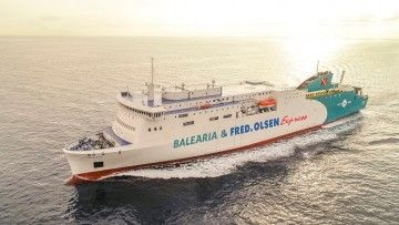 Balearia, una de las navieras que utiliza GNL en parte de su flota
