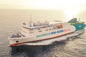 "El ferry ""Marie Curie"" cubre la línea Huelva-Canarias de Balearia"