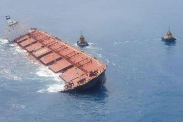 """Escora que presenta el buque VLOC """"Stellar Banner"""""""