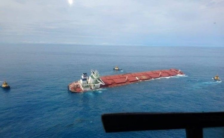 """Situación en la que se encuentra el bulkcarrier """"Stellar Banner"""""""