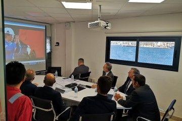 Salvador de la Encina, en la reunión mantenida en Tenerife Shipyards