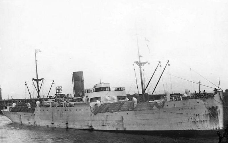 """Otra imagen del buque """"Argual"""", en su etapa en las Antillas"""