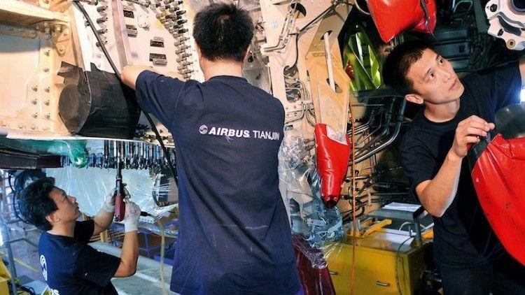 Airbus emplea a 600 personas en la planta de Tianjin