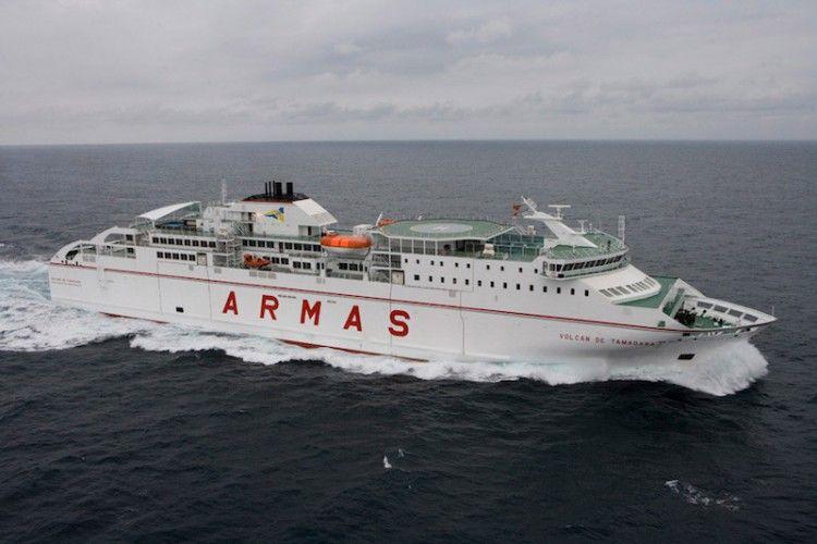 Naviera Armas cumple rigurosamente con las normas sanitarias a bordo