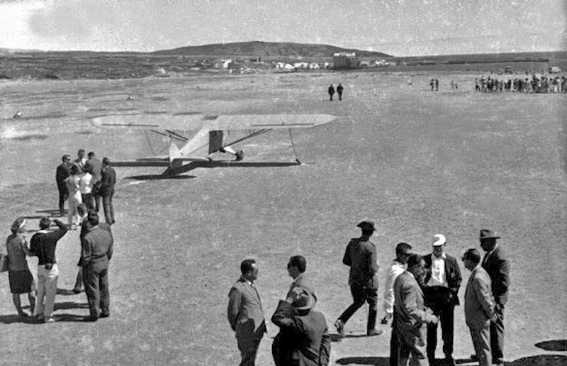 Otra perspectiva del aeródromo de El Médano