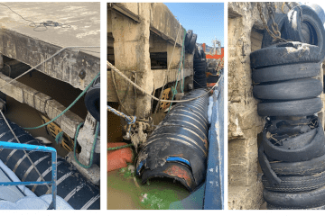 Estado que presentan algunas defensas del puerto de Colonia del Sacramento