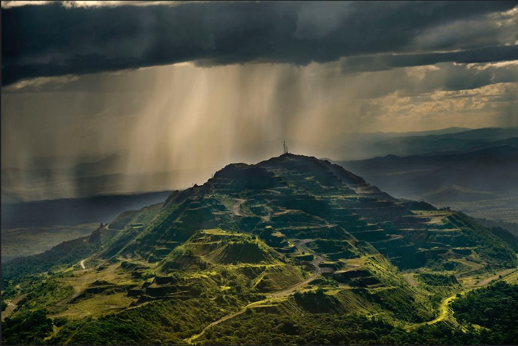 Panorámica aérea del Cerro Bolívar