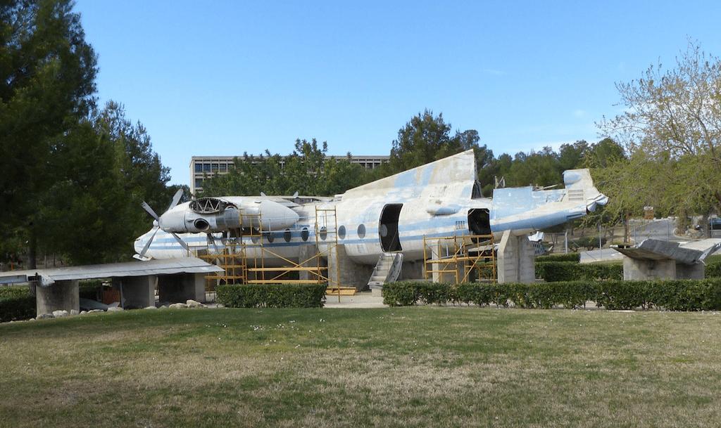El fuselaje del avión, en su último emplazamiento (2016)