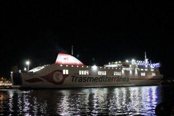 """""""Ciudad de Palma"""", uno de los tres buques de Trasmediterránea adscritos a la línea de Cádiz"""