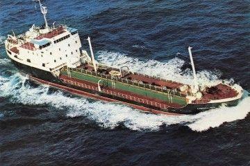 """El petrolero """"Camposalinas"""", en sus pruebas de mar"""