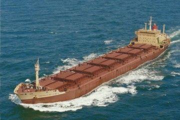 "Estampa marinera del bulkcarrier ""Castillo de La Mota"""