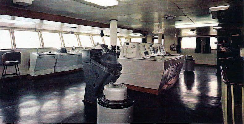 """Puente de mando del buque """"Castillo de La Mota"""""""