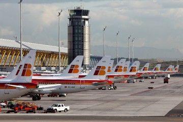 Panorámica parcial de la terminal T-4 de Madrid