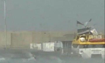 """El techo de la cubierta superior del """"Benchi Express"""", en el momento de salir despedida"""