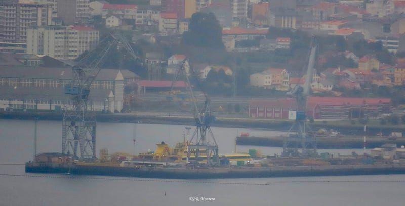 """El trimarán """"Benchijigua Express"""", visto desde Montefaro"""