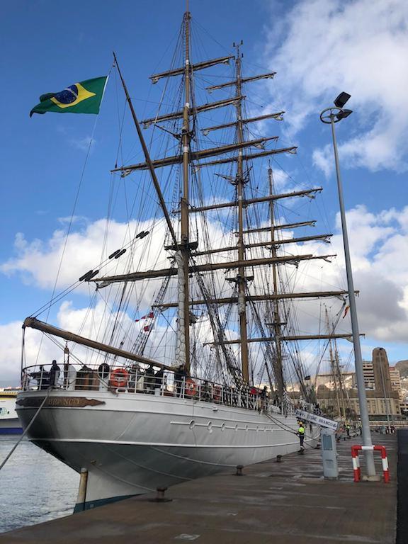 """El buque-escuela """"Cisne Branco"""", de nuevo en Santa Cruz de Tenerife"""