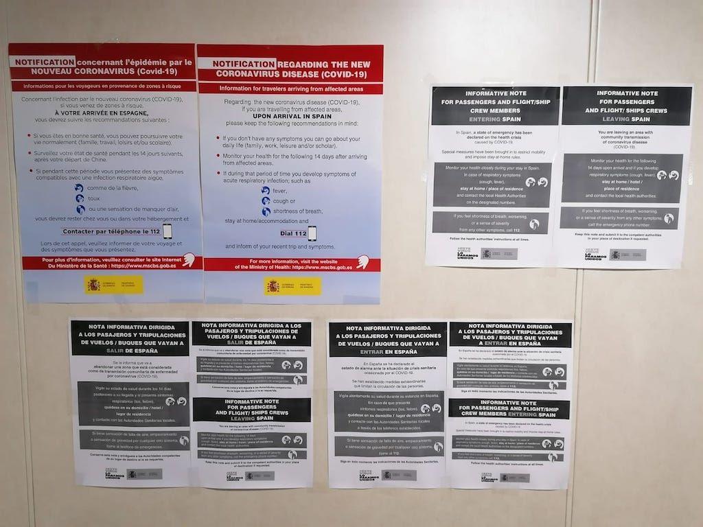 Información sobre el coronavirus distribuida en todos los buques de Naviera Armas
