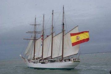 """El buque-escuela """"Juan Sebastián de Elcano"""", de regreso a España"""