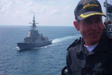 """José Lago Ochoa, en su etapa de comandante del LHD """"Juan Carlos I"""""""