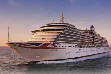 "El crucero de turismo ""Arcadia"" navega rumbo a Santa Cruz de Tenerife"
