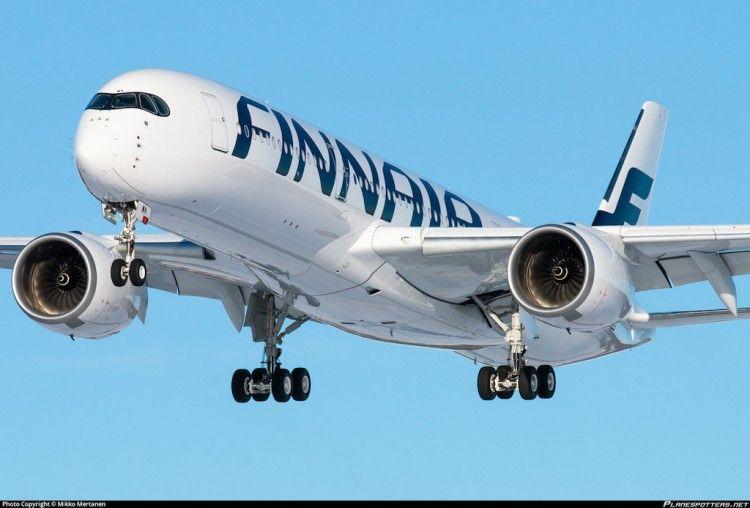 El imponente A350 de Finnair llegará esta noche a Tenerife Sur