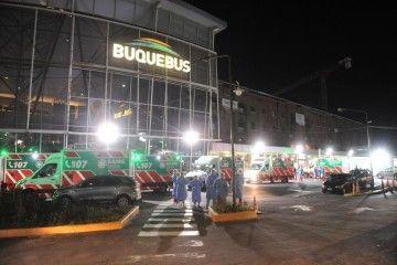 Operativo de emergencia en la terminal de Buquebús en Buenos Aires