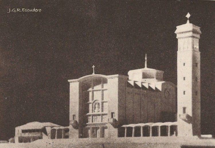 Maqueta del proyecto de basílica de Nuestra Señora de Las Nieves
