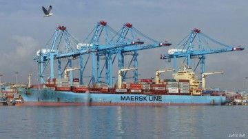 """El buque """"Maersk Calabar"""" en la terminal de Algeciras"""