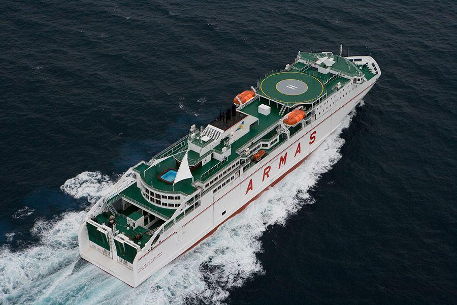 """El ferry """"Volcán de Tamadaba"""" pasa a la línea de Huelva"""