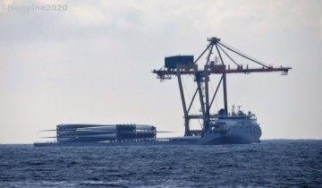 """El buque chino """"Zhi Xian Zhi Xing"""", a su paso frente a la costa de Lugo"""