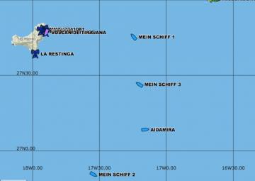 Posición de los buques a las 21 h del 12 de abril