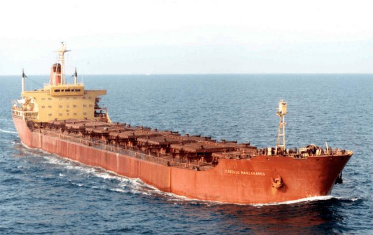 """El buque """"Castillo Manzanares"""", navegando por el canal de la Mancha"""