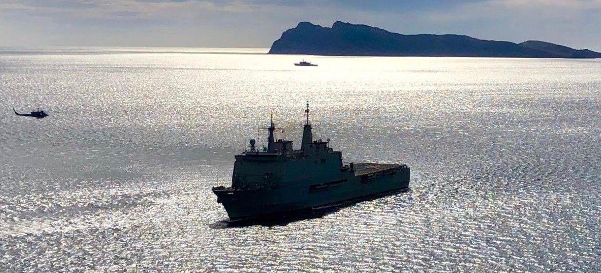 """El buque LPD """"Galicia"""" está camino de Melilla"""