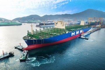"""Puesta a flote del buque """"HMM Algeciras"""""""