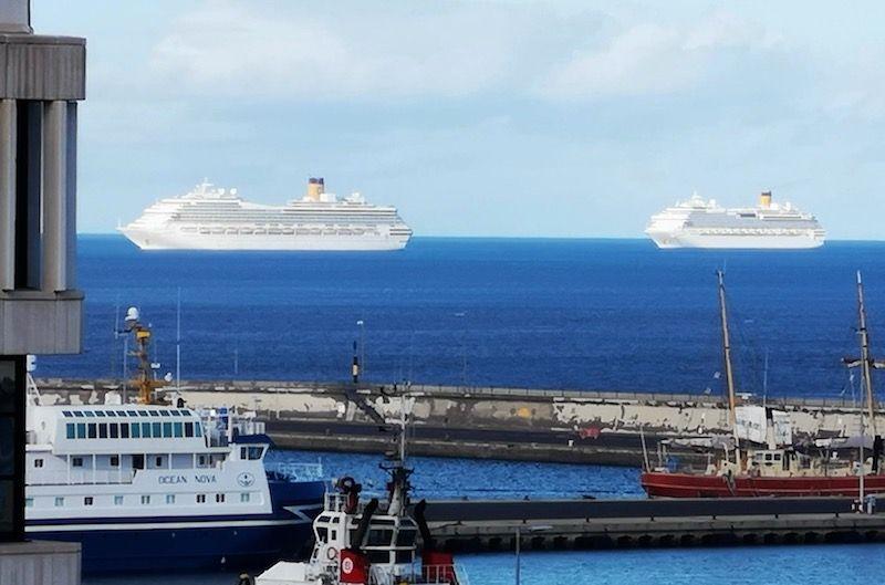 """Los buques """"Costa Mágica"""" y """"Costa Favolosa"""", esta tarde en Tenerife"""