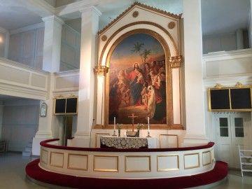 Altar mayor de la Iglesia Vieja de Helsinki