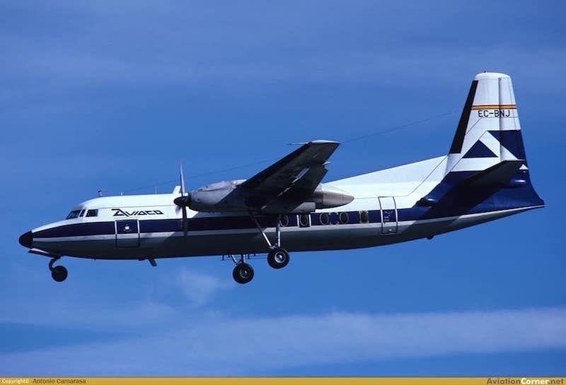 El mismo avión, en la etapa en la que perteneció a AVIACO