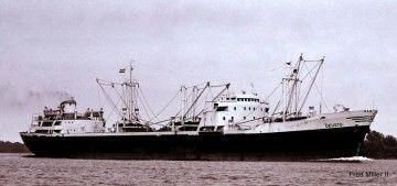 """Estampa marinera del buque """"Deusto"""""""