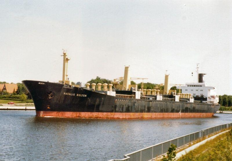"""En su primera etapa, siendo el bulkcarrier alemán """"Natalie Bolten"""""""