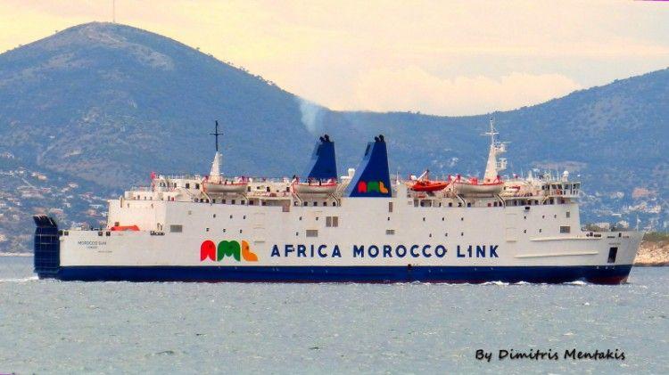 """Parece que el buque """"Morocco Sun"""" emite más humos de los debidos"""