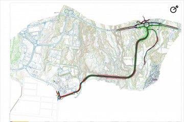 Trazado principal del viario de conexión con el puerto industrial de Granadilla