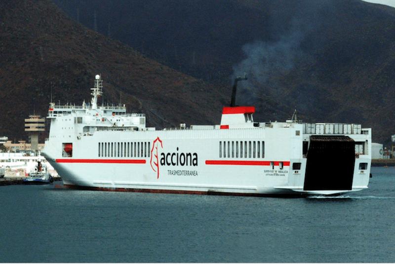 """El buque """"Superfast-Andalucía"""", en su etapa con Acciona Trasmediterránea"""