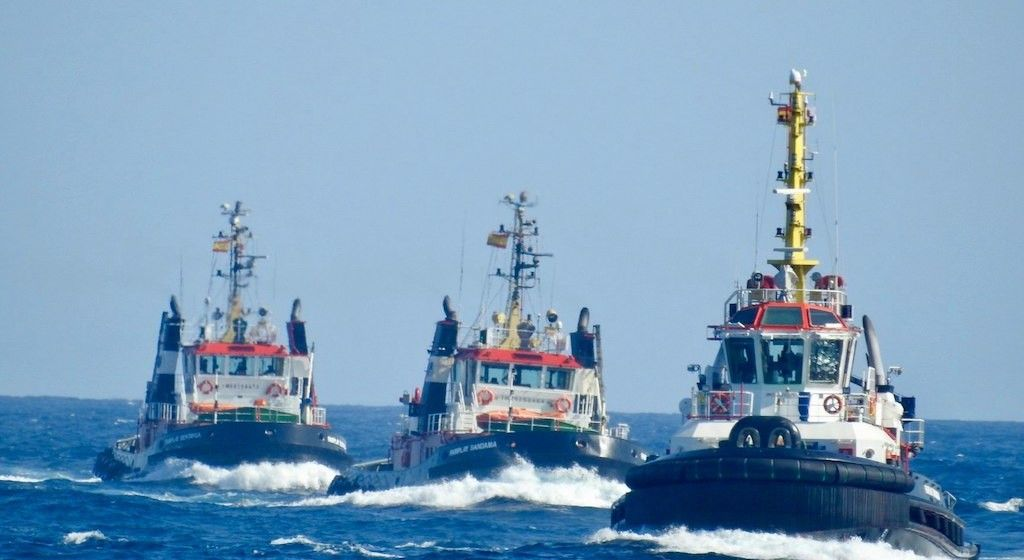 Remolcadores de Fairplay en el puerto de Las Palmas de Gran Canaria