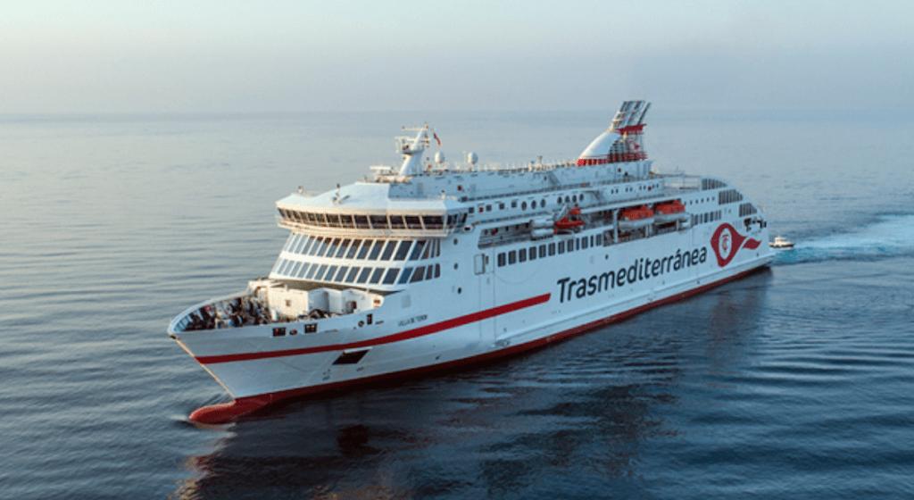 """Estampa marinera del ferry """"Villa de Teror"""""""