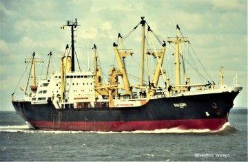 """Estampa marinera del buque """"Falcón"""""""