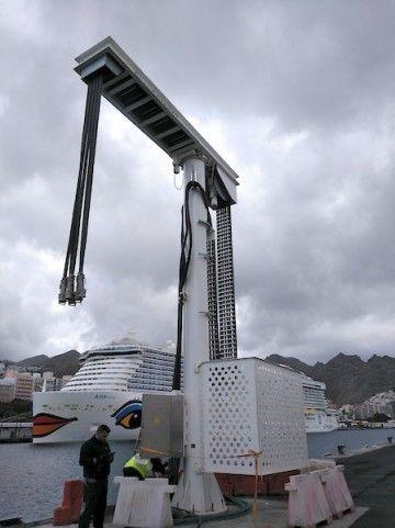 Instalación para conexión eléctrica en el puerto de Santa Cruz de Tenerife