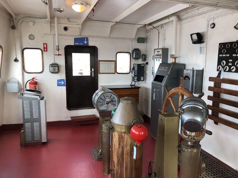 """Puente de mando del buque hospital """"Gil Eannes"""""""