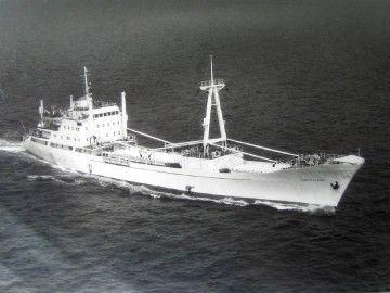 """Estampa marinera del buque """"Playa de la Aldea"""""""